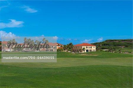 Golf Course and Homes, Aruba, Leeward Antilles, Lesser Antilles, Caribbean