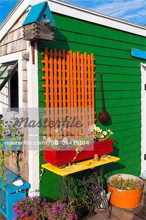 Patio Garden, Provincetown, Cape Cod, Massachusetts, USA