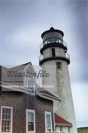 Cape Cod Highland Lighthouse, Cape Cod National Seashore, North Truro, Truro, Barnstable, Cape Cod, Massachusetts, USA