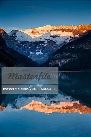 Lake Louise at Dawn, Banff National Park, Alberta, Canada