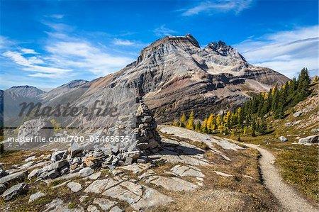 Lake McArthur Trail Weaving Through Mountainous Landscape, Yoho National Park, British Columbia, Canada