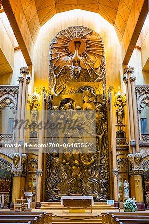 Altar in Private Chapel, Notre-Dame Basilica, Montreal, Quebec, Canada