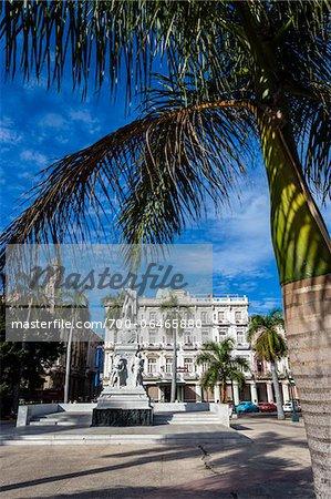 Hotel Inglaterra and Parque Central with Palm Trees, Old Havana, Havana, Cuba