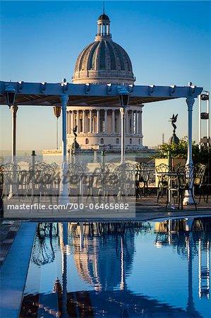 El Capitolio as seen from Rootop of Hotel Parque Central, Old Havana, Havana, Cuba