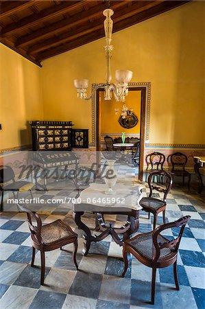 Museo Romantico.Furniture In Room Of Museo Romantico Trinidad Cuba Stock Photo