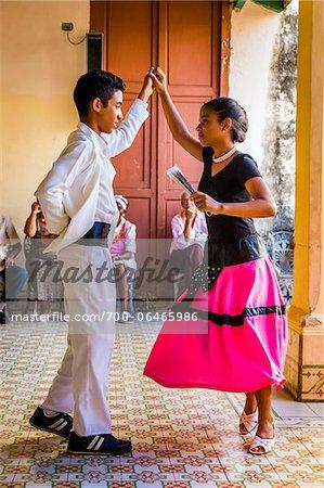 Young Dancers Performing at Club Amigos Social Dancing Event, Trinidad, Cuba