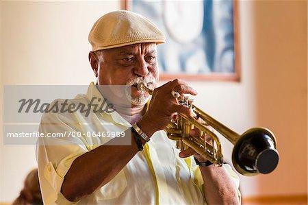 Close-Up of Trumpet Player, Trinidad, Cuba