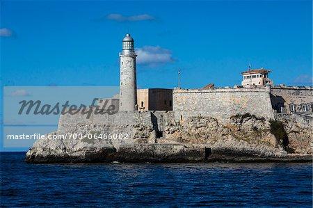 Morro Castle and Lighthouse on Coast, Havana, Cuba