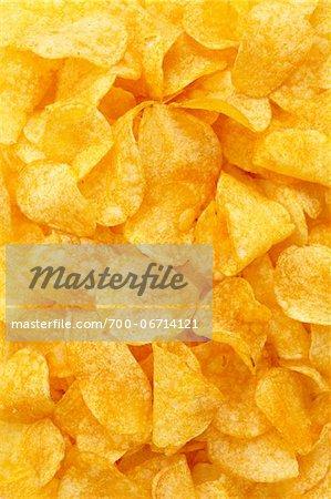 Close-up still life of potato chips