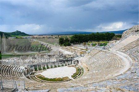 Turkey, Aegean Region, Ephesus, Roman Theatre