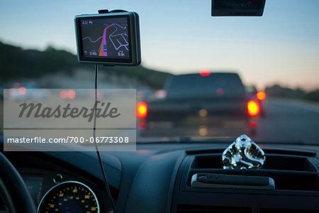 Heading into rush hour traffic, Mo Pac Expressway, Austin, Texas, USA