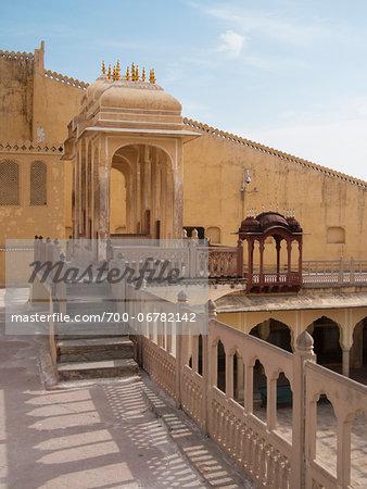towers and balconies of Hawa Mahal Palace, Jaipur, India
