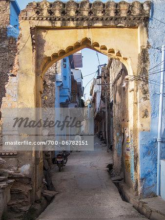 Gateway of old town center, city of Bundi, India