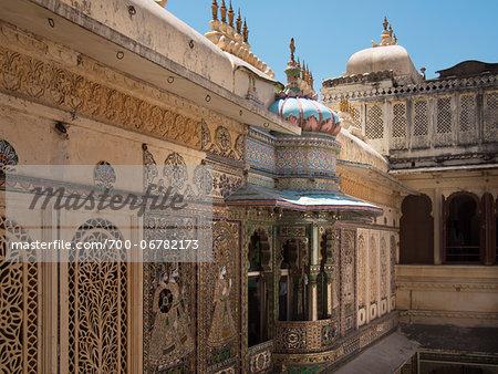 City Palace (built around 1560) of Udaipur, Rajasthan, India