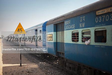 Train in Thar Desert, Rajasthan, India