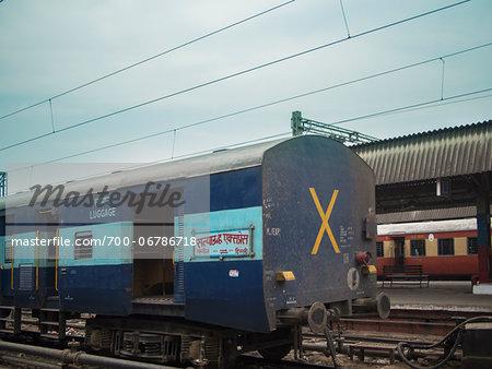 Train in Railway Station of Bikaner, Bikaner district, Rajasthan, India