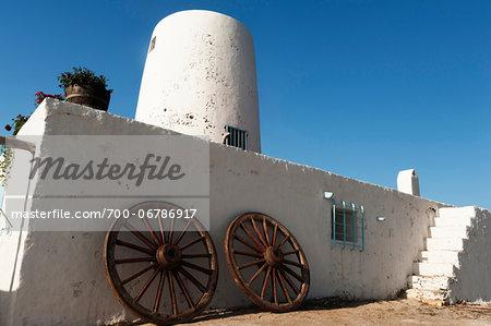 Old White Stone Windmill, Ses Illetes, Formentera, Balearic Islands, Spain