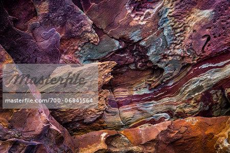 Close-Up of Rock Detail, The Loop, Kalbarri National Park, Western Australia, Australia