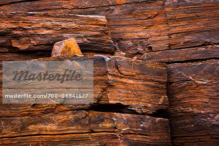 Rock Wall Detail, Dales Gorge, Karijini National Park, The Pilbara, Western Australia, Australia