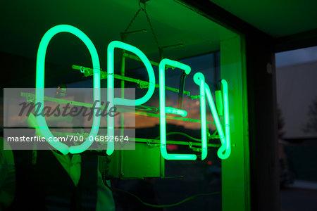 neon store Open sign