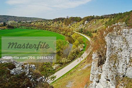 Twelve Apostles, near Solnhofen, Altmuehl Valley, Bavaria, Germany, Europe