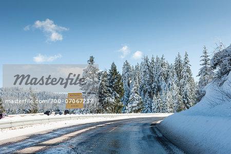 Roadside sign on Mount Ashland, Southern Oregon, USA