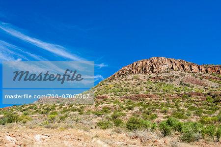 View of mountain side and sky, Damaraland, Kunene Region, Namibia, Africa