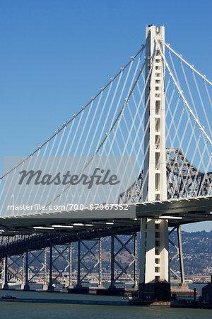 View of Bay Bridge, new, east span, San Francisco, California, USA