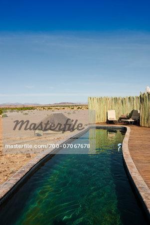 Pool, Doro Nawas Camp, Damaraland, Kunene Region, Namibia, Africa