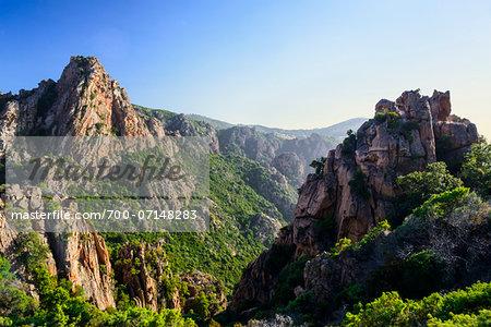 Scenic view of the Calanques de Piana, (Unesco World Heritage Site) Gulf of Porto, Corsica, France