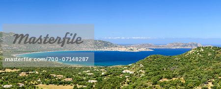 Scenic view of the Gulf of Calvi, Calvi, Balagne, Corsica, France