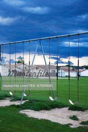 Swings and Storm Clouds, Whitecourt, Alberta, Canada