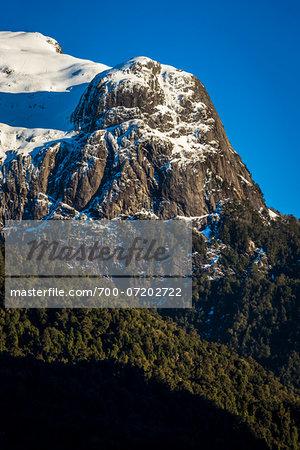 Close-up of mountain at Peulla, Parque Nacional Vicente Perez Rosales, Patagonia, Chile