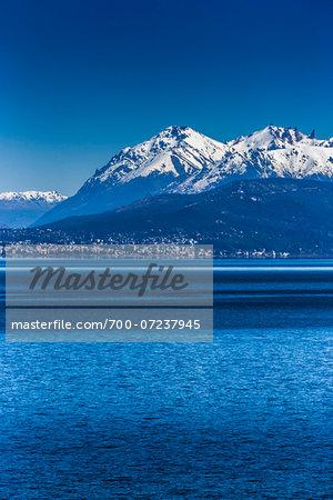 Scenic view of lake and the Andes Mountains near Bariloche, Nahuel Huapi National Park (Parque Nacional Nahuel Huapi), Argentina