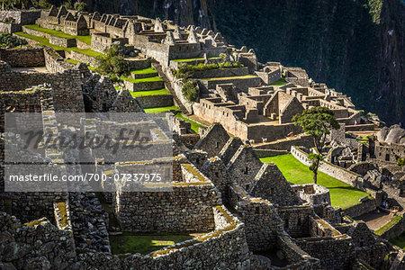 Overhead view of Machu Picchu, Peru