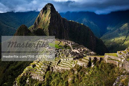 Scenic overview of Machu Picchu, Peru