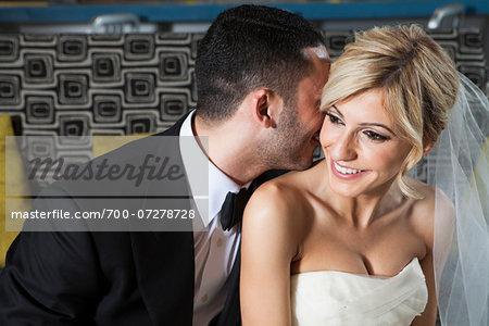 Candid Portrait of Bride and Groom, Toronto, Ontario, Canada