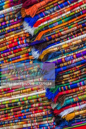 Close-up of Material in Clothing Market, Otavalo, Ecuador