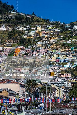 Buildings on Hillside, Historic Centre of Quito, Ecuador
