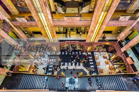 Looking Down in Palacio de Bellas Artes, Mexico City, Mexico