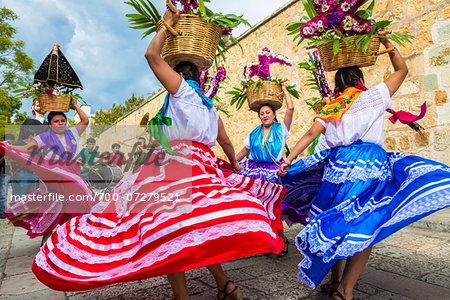 Traditional Oaxacan Dancers at Wedding, Oaxaca de Juarez, Oaxaca, Mexico