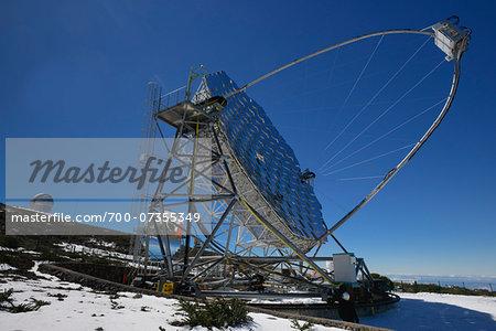 MAGIC Telescope at Roque de los Muchachos Observatory, Garafia, La Palma, Canary Islands