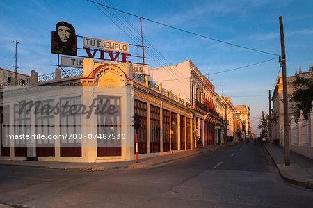 Billboard of Che Guevara at Parque Jose Marti, Cienfuegos, Cuba