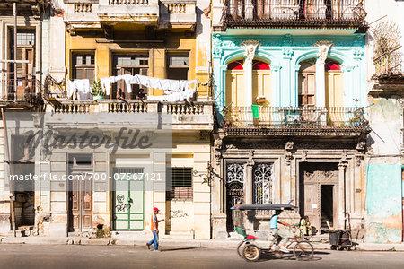 Historic architecture in Central Havana, Cuba