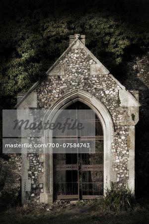 Derelict overgrown church, Norfolk, England.