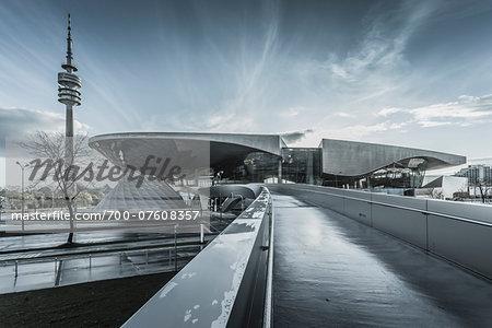 View of the BMW Welt, Munich, Bavaria, Germany.