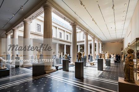 Interior of Metropolitan Museum of Art, New York City, New York, USA