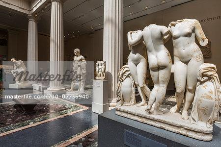 Statues in Metropolitan Museum of Art, New York City, New York, USA