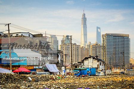 old city near yuyuan garden and bazar old shikumen razed to the