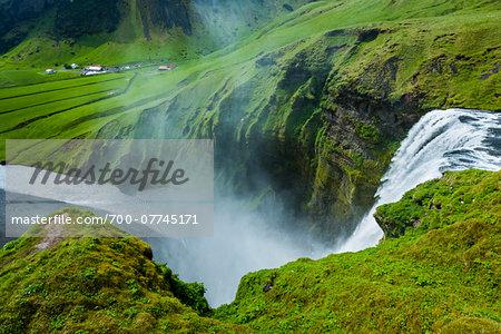 Scenic at Skogafoss, Iceland